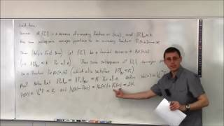 Topics In Analysis (Lecture 26): Helly's Theorem And The Riemann-Stieltjes Integral