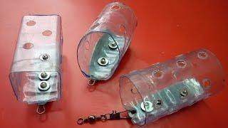 getlinkyoutube.com-Фидерная кормушка из пластиковой бутылки своими руками .feeder fishing ,
