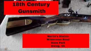 getlinkyoutube.com-Flintlock Gunsmith at Martin's Station