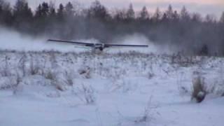 getlinkyoutube.com-Turbo Otter Takeoff on Wheels from Snow
