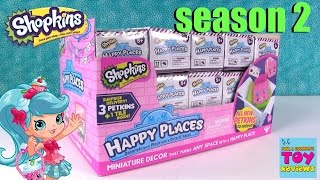 getlinkyoutube.com-Happy Places Shopkins Series 2 Full Box Opening Blind Bag Fun | PSToyReviews
