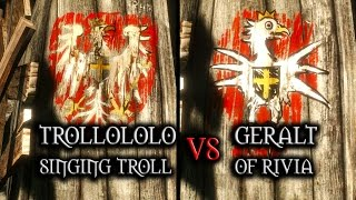 getlinkyoutube.com-The Witcher 3: Wild Hunt - Painting contest Geralt vs Trollololo the Singing Troll