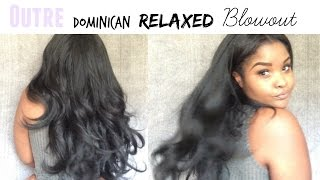 getlinkyoutube.com-$17 Outre Dominican Blowout Relaxed half wig | Review + BLENDING Method
