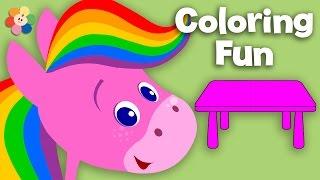 getlinkyoutube.com-Furniture | Coloring and Music | Rainbow Horse | BabyFirst TV