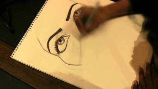 #1 draw saudi girl,رسمة بقلم الرصاص والفحم view on youtube.com tube online.