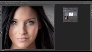 getlinkyoutube.com-04- Photoshop - Portrait Adoucir la peau et conserver la texture