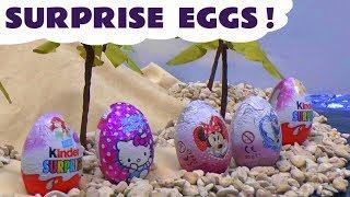 getlinkyoutube.com-Kinder Princess Ariel Mermaid Surprise Eggs Barbie Frozen Play Doh Disney Princess Minnie Mouse