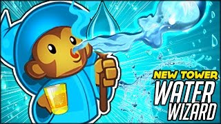NEW OP TOWER? THE X-4 WATER WIZARD!! CAN WE SURVIVE 100? (BTD Battles/ Bloons TD Battles Hack/Mod)