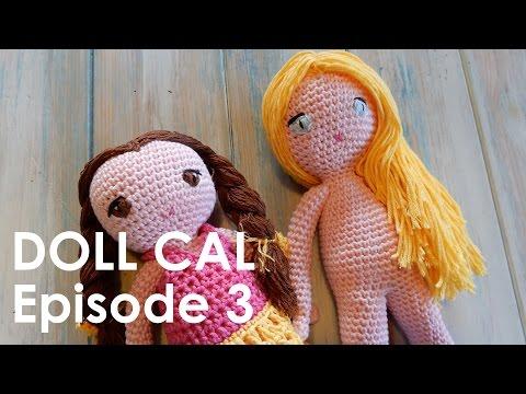 Crochet Amigurumi Doll CAL Ep3 - Arms and Hair