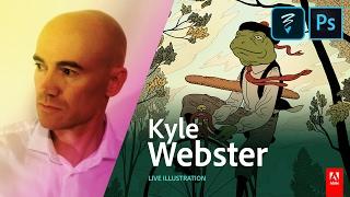 getlinkyoutube.com-Live Illustration with Kyle Webster (KyleBrush) - AdobeLive
