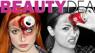 getlinkyoutube.com-Lattina Coca Cola in fronte, Make up Halloween | Beautydea