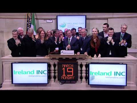 H.E. Enda Kenny T.D., Taoiseach (Prime Minister) of Ireland rings the NYSE Opening Bell NYSE Euronext hosts US and Irish business and government leaders for 'Ireland Day' on Monday, March 19, 2012. In honor of the occasion, H.E. Enda Kenny T.D.,... great reason why the government wont tax rich business men with what support they get from them ,arse lickers!!!