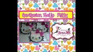 getlinkyoutube.com-Como hacer invitacion hello kitty en foami o goma eva - DIY
