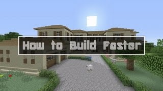 How to Build Faster in Minecraft