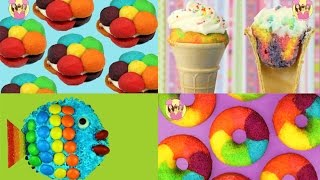 getlinkyoutube.com-BEST OF RAINBOW Cookies Cupcake Cones Donuts Fish - unicorn party treats