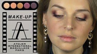 getlinkyoutube.com-Вечерний макияж с палеткой Atelier T17 в карандашной технике