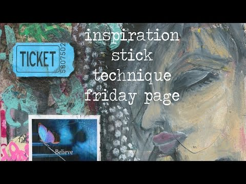 Inspiration stick page how to - from technique Friday collage page