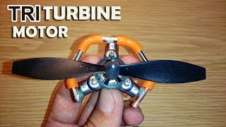 getlinkyoutube.com-Triple Turbine Prototype Motor