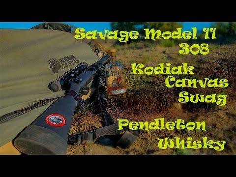 Savage Model 11 308 Kodiak Canvas Swag Pendleton Whisky Campout