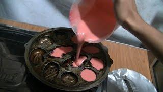getlinkyoutube.com-Jakarta Street Food 584 Red Velvet Cubit Cake  Kue Cubit  Greget Red Velvet BR TiVi 4104