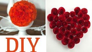 getlinkyoutube.com-DIY: hübsche Rosen aus Servietten oder Papier | Deko Kitchen
