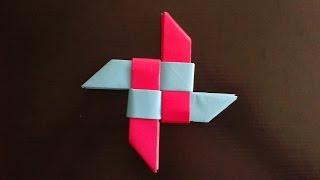 getlinkyoutube.com-Origami ninja Star оригами звезда