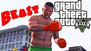 getlinkyoutube.com-Franklin Street Fighter/Knock Out Artist GTA 5