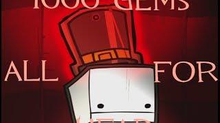 1000 Gems Spent on HEAD - BattleBlock Theater