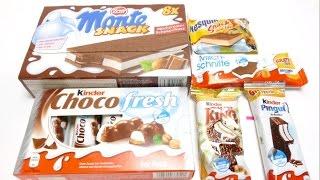 getlinkyoutube.com-Kinder Choco Fresh, Zott Monte, Kinder King, Kinder Pinguin & more Snacks for School