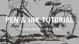 getlinkyoutube.com-Urban Sketching Tutorial  - Pen & Ink Bike Sketch (HD)