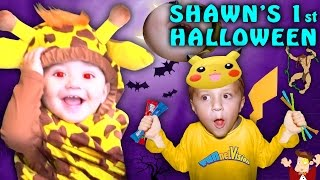 getlinkyoutube.com-SHAWN'S FIRST HALLOWEEN! Dangerous Candy Addiction! (FUNnel Vision Family Costume Vlog) 2016
