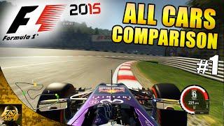 getlinkyoutube.com-F1 2015 | All Cars Comparison #1: Austria Hot Laps