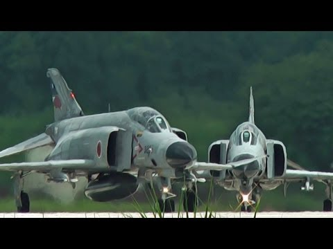 F-4 Phantom II Takeoff Runway 21L HYAKURI AIR BASE JASDF 2nd