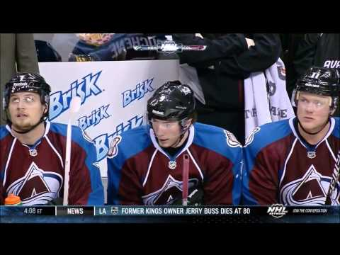 2/18/13: Avalanche's Matt Duchene scores after being a mile offside vs. Predators