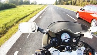 illegal Motorcycle Street Racing. Tuned 2 Stroke Aprilia AF1 Sport, #Real Life GoPro Full HD 2014