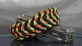 """getlinkyoutube.com-Как сделать браслет """"Небесное перо"""" из паракорда \ DIY paracord bracelet """"Heavenly feather"""""""