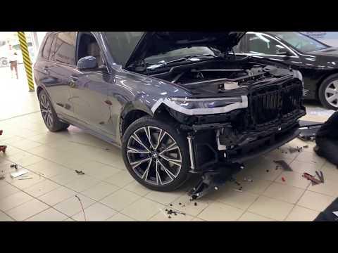 BMW X7 G07 - защитная сетка в бампер