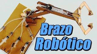 getlinkyoutube.com-Brazo robótico con sistema hidráulico, cómo se hace