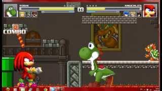 getlinkyoutube.com-Mugen Mario Series vs Sonic Series (4v4 Battle)
