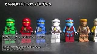 getlinkyoutube.com-Lego Ninjago 2016 DeCool Bootleg 10043 - 10046 Review Jay Kai Zane Lloyd Nya Cole