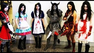 getlinkyoutube.com-Alice: The Madness returns Sketch Supanova Anime Con Cosplay Competition Gothic Horror Fleshmaiden