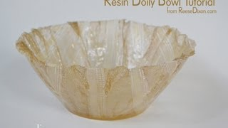 getlinkyoutube.com-DIY Christmas Gift for Mom - Make a Lace Bowl out of resin!