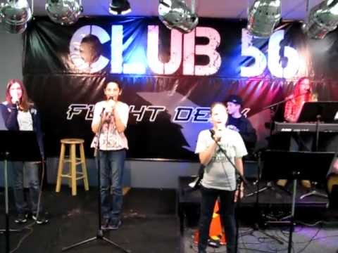 Club 56 Preteen Student Band performing
