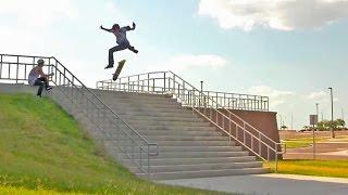 getlinkyoutube.com-17 Stair Hardflip Attempts!?!