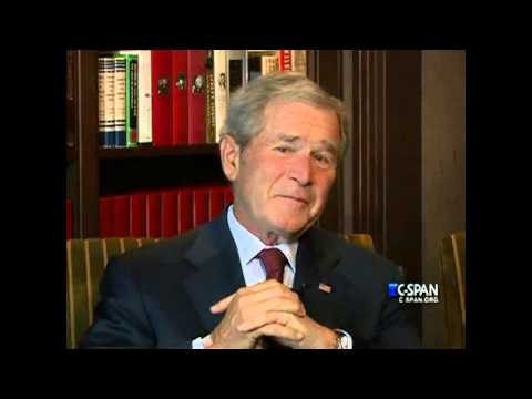 Former President George W. Bush on relationship with Dick Cheney (C-SPAN)