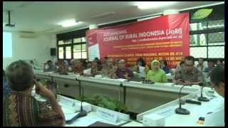 Soft Launching Journal of Rural Indonesia (GreenTV IPB)
