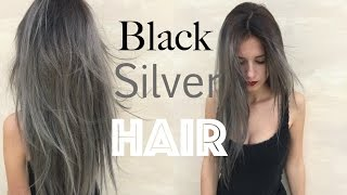getlinkyoutube.com-How to: Black Roots Silver Grey Hair | Stella