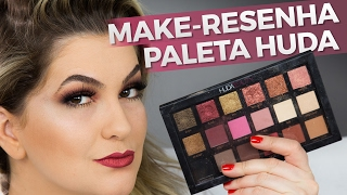 getlinkyoutube.com-MAKE-RESENHA COM A PALETA HUDA BEAUTY