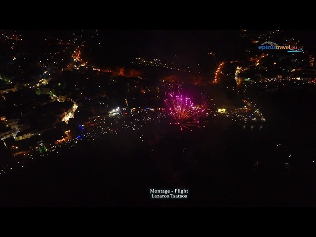 Parga on 15 August full of fireworks - flight