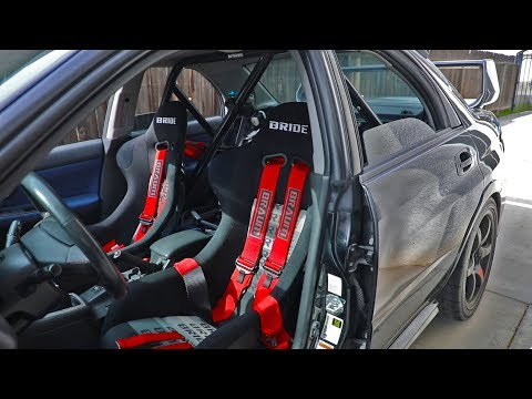 Bride Seats, 6-Point Harness, and Roll Bar Install